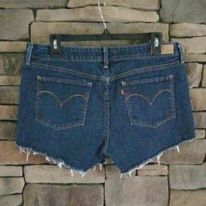 Levi's Cut Off Denim Jean Shorts.